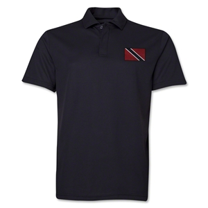 Trinidad & Tobago Flag Soccer Polo (Black)