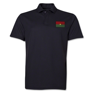 Burkina Faso Flag Soccer Polo (Black)