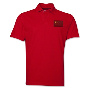 China Flag Soccer Polo (Red)
