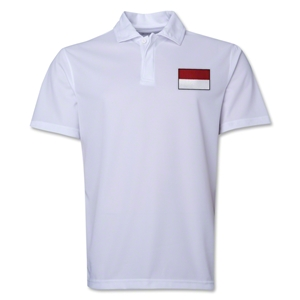 Indonesia Flag Soccer Polo (White)