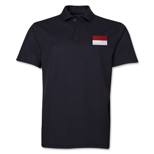 Indonesia Flag Soccer Polo (Black)