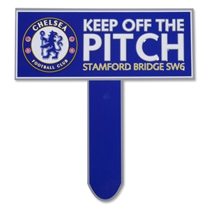 Chelsea Keep Off the Pitch Sign