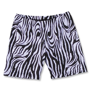 Black and White Zebra 6 Compression Short (Blk/Wht)