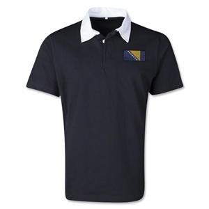 Bosnia-Herzegovina Retro Flag Shirt (Black)