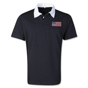 USA Retro Flag Shirt (Black)