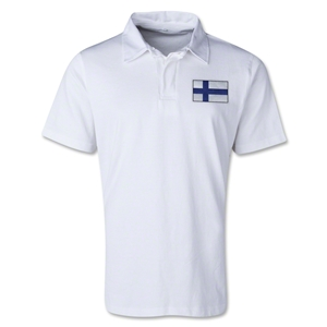 Finland Retro Flag Shirt (White)