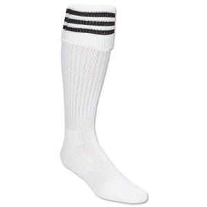 3 Stripe Padded Socks (White/Black)