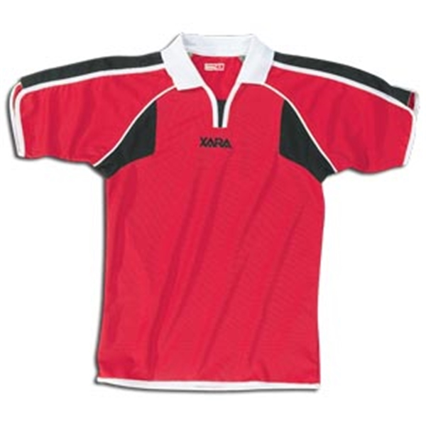 Xara Preston Soccer Jersey (Red/Blk)