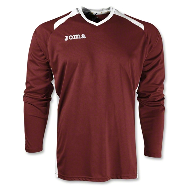 Joma Champion II Long Sleeve Jersey (Maroon/Wht)