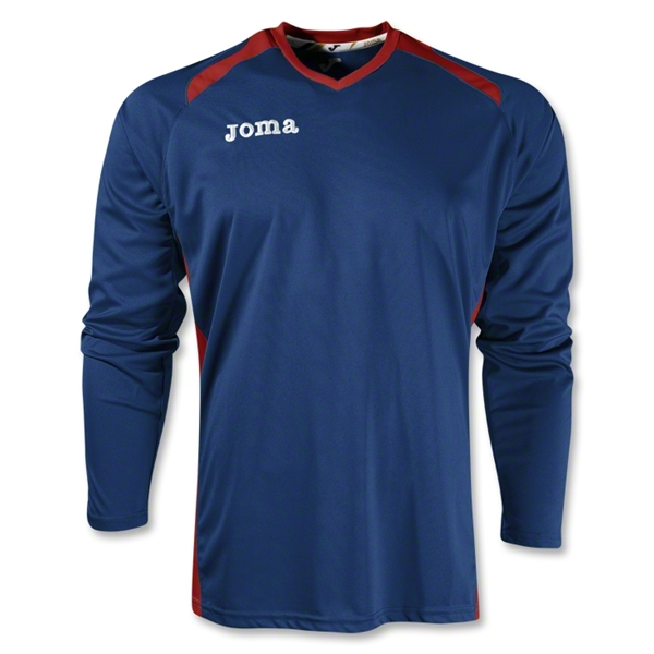 Joma Champion II Long Sleeve Jersey (Navy/Red)