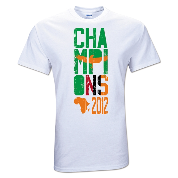 Zambia 2012 Champions of Africa T-Shirt (White)