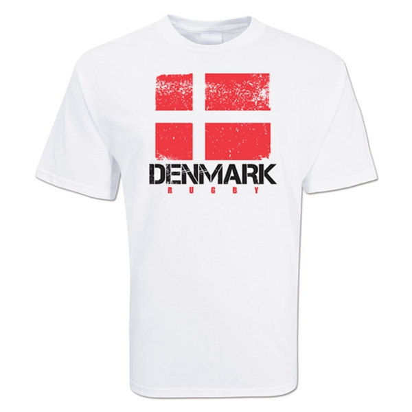 Denmark Country Rugby Flag T-Shirt