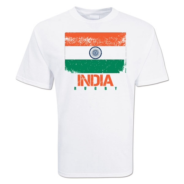 India Country Rugby Flag T-Shirt