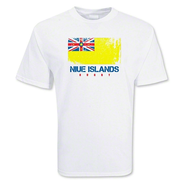 Niue Islands Country Rugby Flag T-Shirt