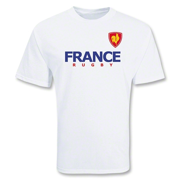France 2011 Crest Rugby T-Shirt (White)