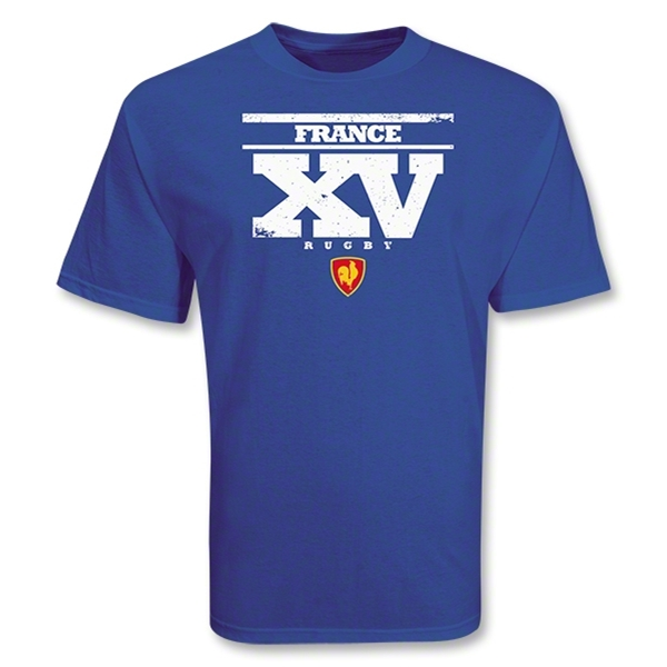 France 2011 XV Rugby T-Shirt (Royal)