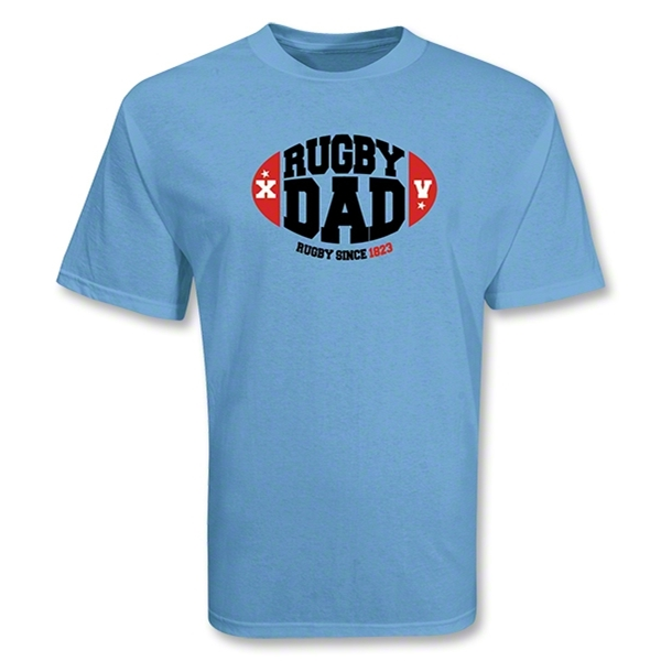 Rugby Dad 15 SS T-Shirt (Sky)
