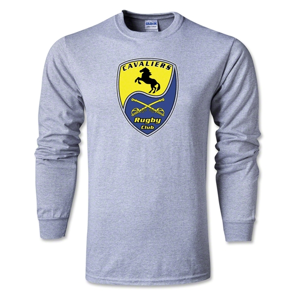 Pleasanton Cavaliers Rugby Long Sleeve T-Shirt (Gray)
