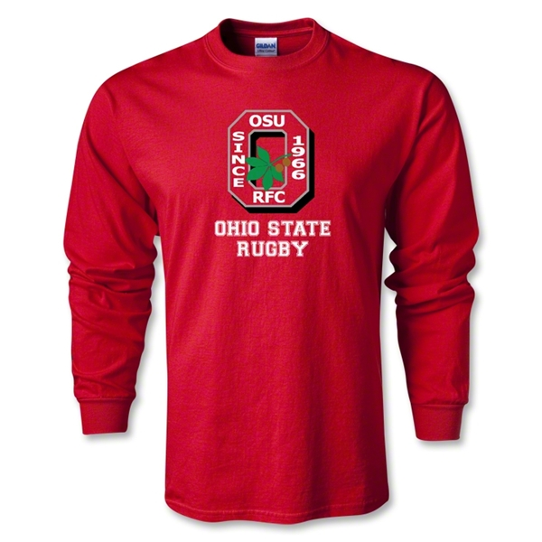 Ohio State Alumni Rugby LS T-Shirt (Red)
