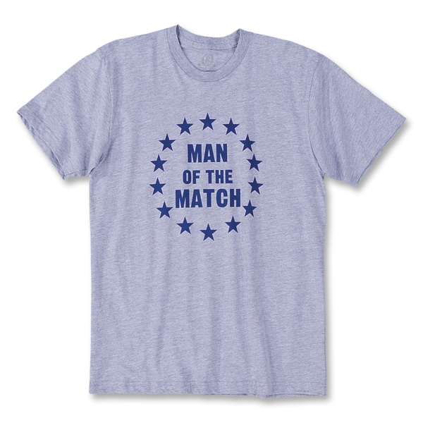 Man on the Match Soccer T-Shirt (Gray)