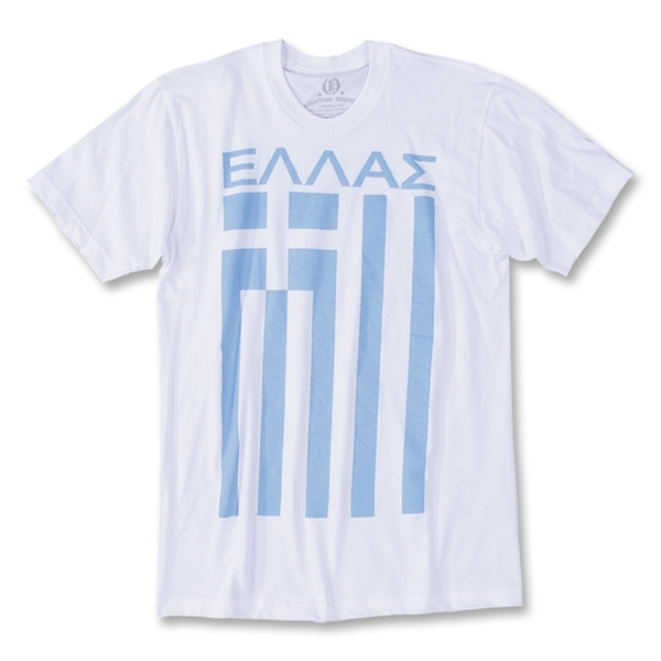 Objectivo Greece Flag Soccer T-Shirt (White)