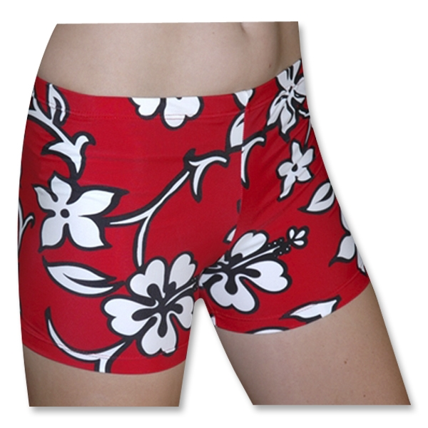 Tuga Sport Shortz Hibiscus (Red)