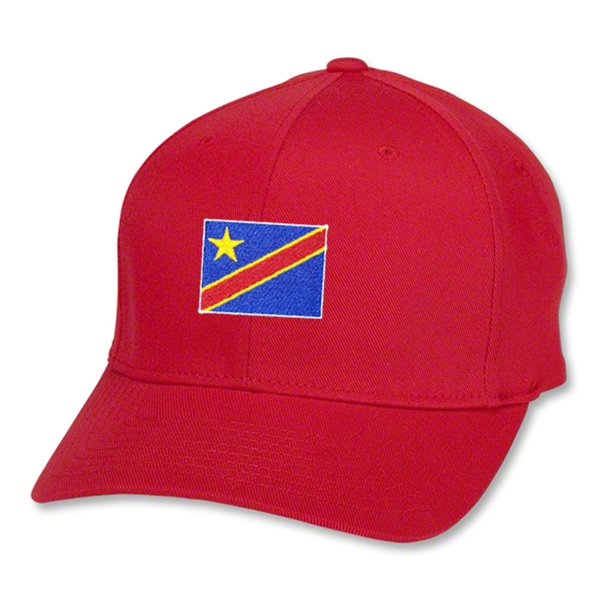 Congo DR Flex Fit Cap (Red)
