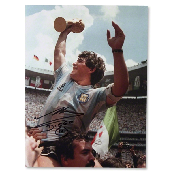 ICONS Diego Maradona Lifting the World Cup Photo