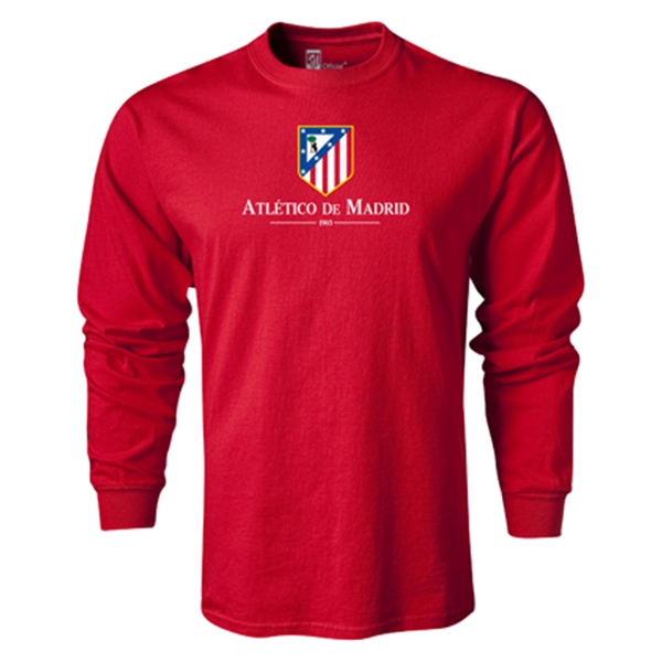 Atletico Madrid Crest LS T-Shirt (Red)