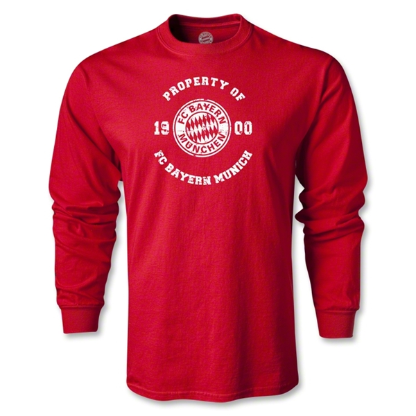 Bayern Munich Distressed Property LS T-Shirt (Red)