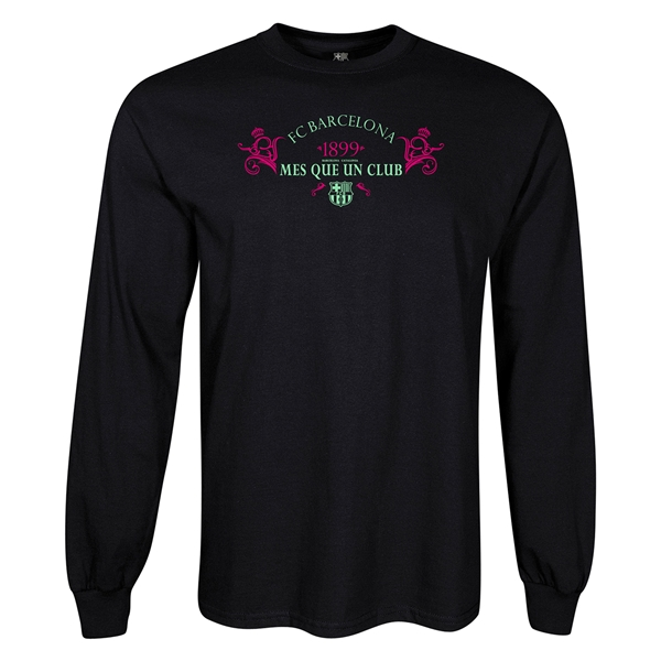 FC Barcelona Mes Que Un Club LS T-Shirt (Black)