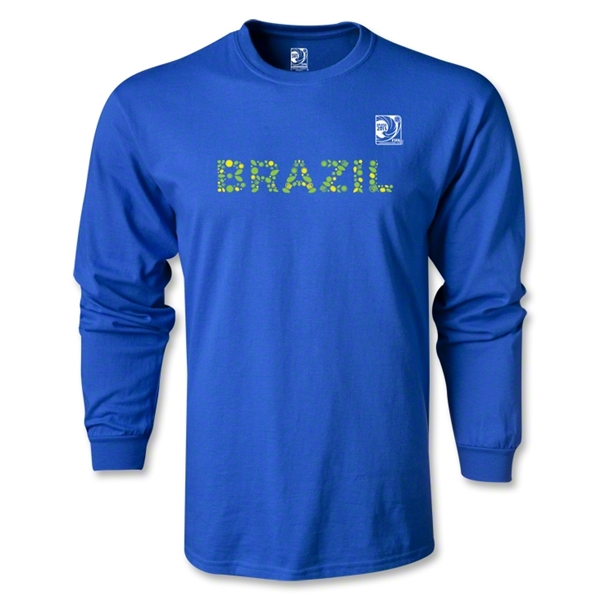 FIFA Confederations Cup 2013 Brazil LS T-Shirt (Royal)