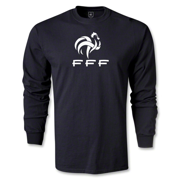 France FFF LS T-Shirt (Black)