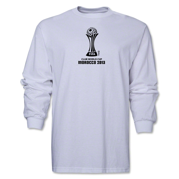FIFA Club World Cup Morocco 2013 Official Emblem LS T-Shirt (White)