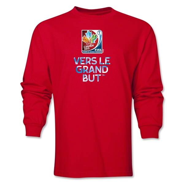 FIFA Women's World Cup Canada 2015(TM) French Slogan LS T-Shirt (Red)