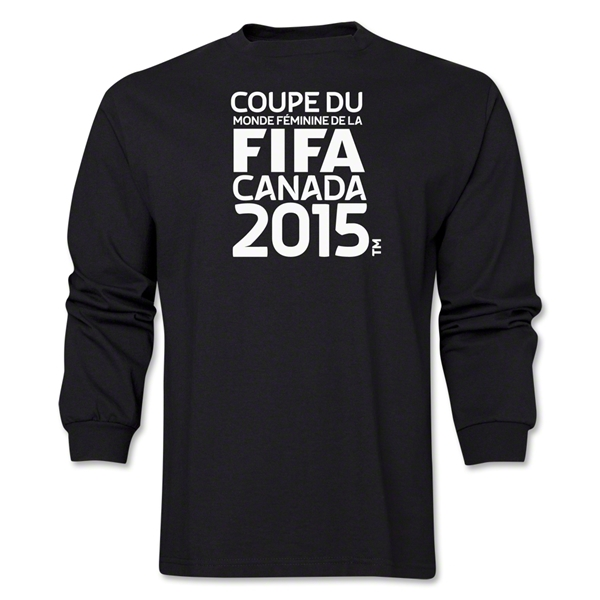 FIFA Women's World Cup Canada 2015(TM) French Logotype LS T-Shirt (Black)