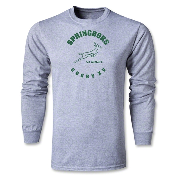 South Africa Springboks Rugby 15 LS T-Shirt (Gray)