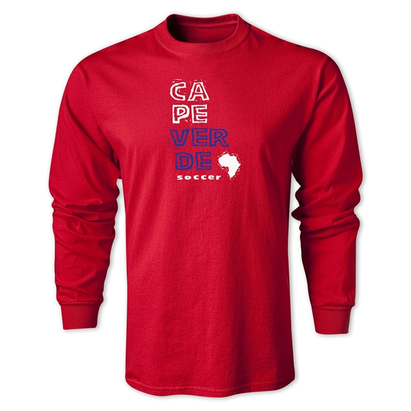 Cape Verde LS Country T-Shirt (Red)