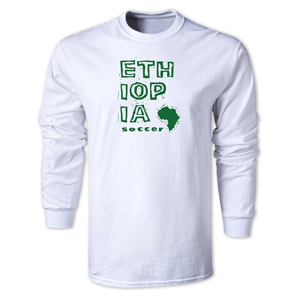 Ethiopia LS Country T-Shirt (White)