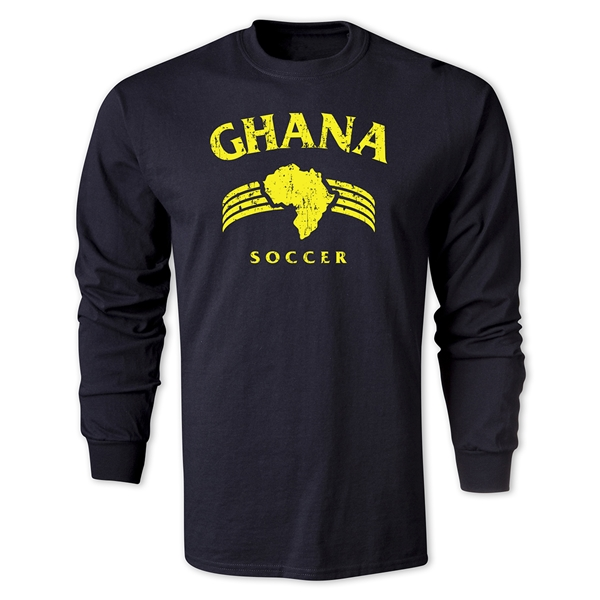 Ghana LS Country T-Shirt (Black)