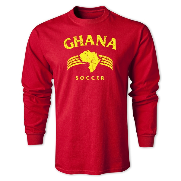 Ghana LS Country T-Shirt (Red)