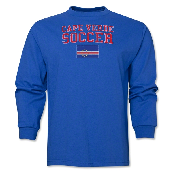 Cape Verde LS Soccer T-Shirt (Royal)