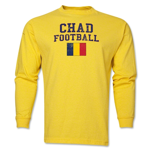 Chad LS Football T-Shirt (Yellow)
