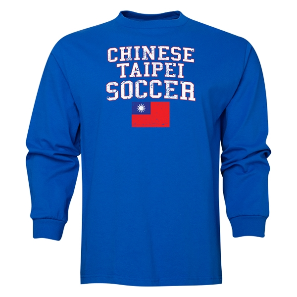 Chinese Taipei LS Soccer T-Shirt (Royal)