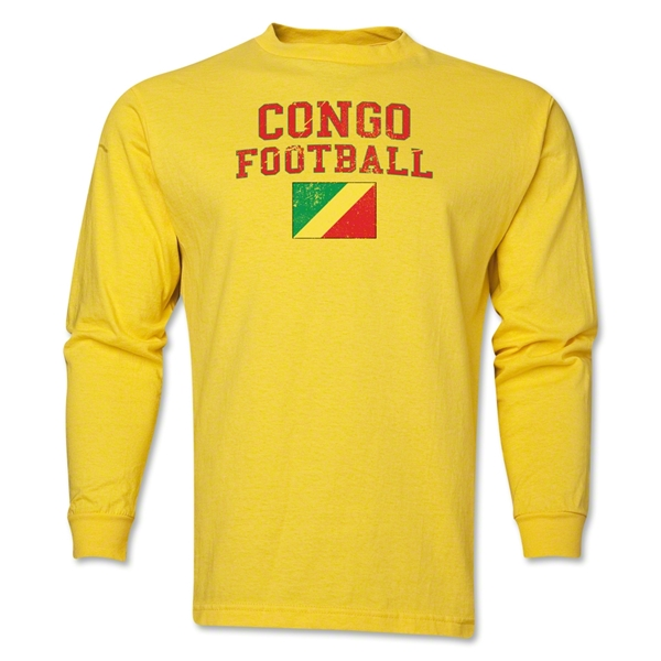 Congo LS Football T-Shirt (Yellow)