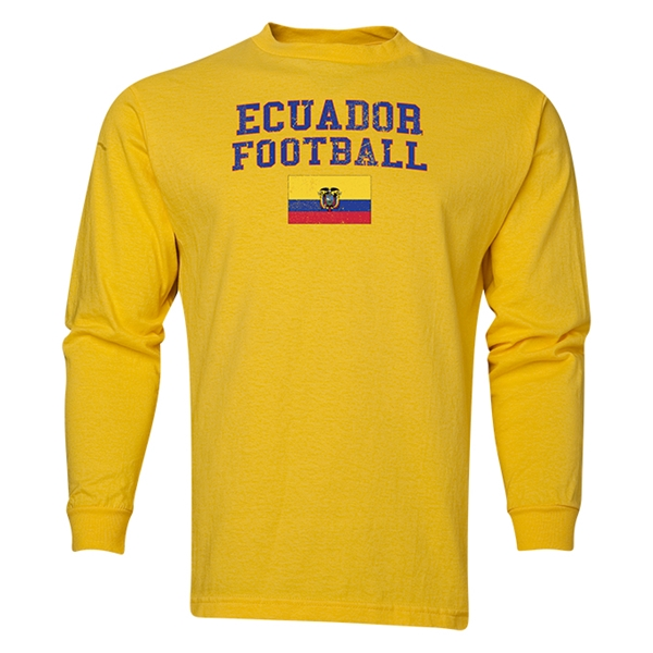 Ecuador LS Football T-Shirt (Yellow)