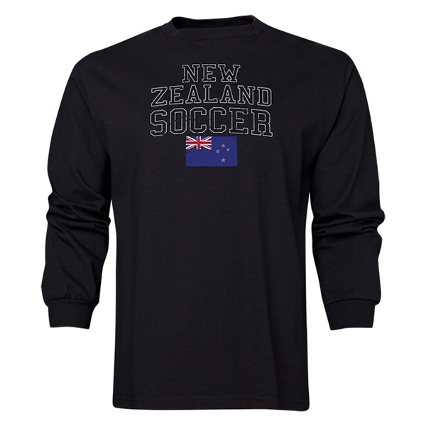 New Zealand LS Soccer T-Shirt (Black)