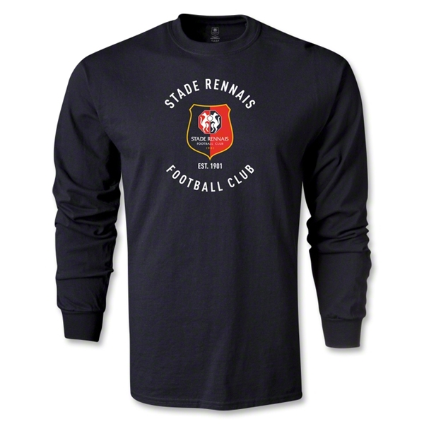Stade Rennais FC Graphic LS T-Shirt (Black)