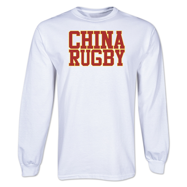 China Supporter LS Rugby T-Shirt (White)