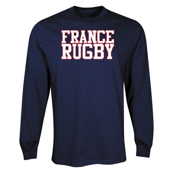 France Supporter LS Rugby T-Shirt (Navy)